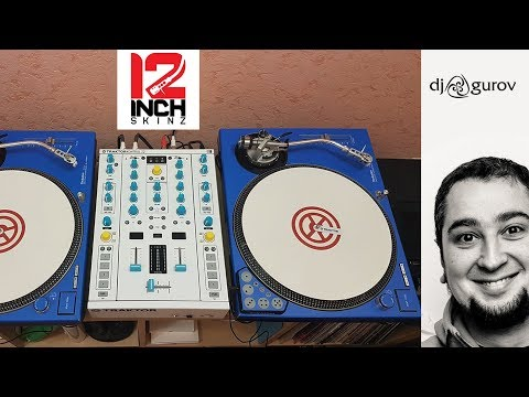 12inchskinz Installation on Technics 1200 MK2 & Native Instruments Z2