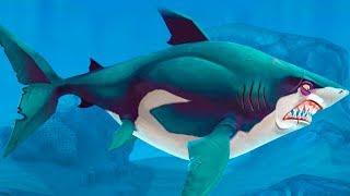 МАЛЕНЬКАЯ ГОЛОДНАЯ АКУЛА Hungry Shark World #2 Большая белая акула с Кидом и рыбками в океане