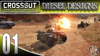 Let's Try CROSSOUT Gameplay: EP1:  Build a Vehicle and Go To WAR! (1080p MMO Vehicle Shooter)