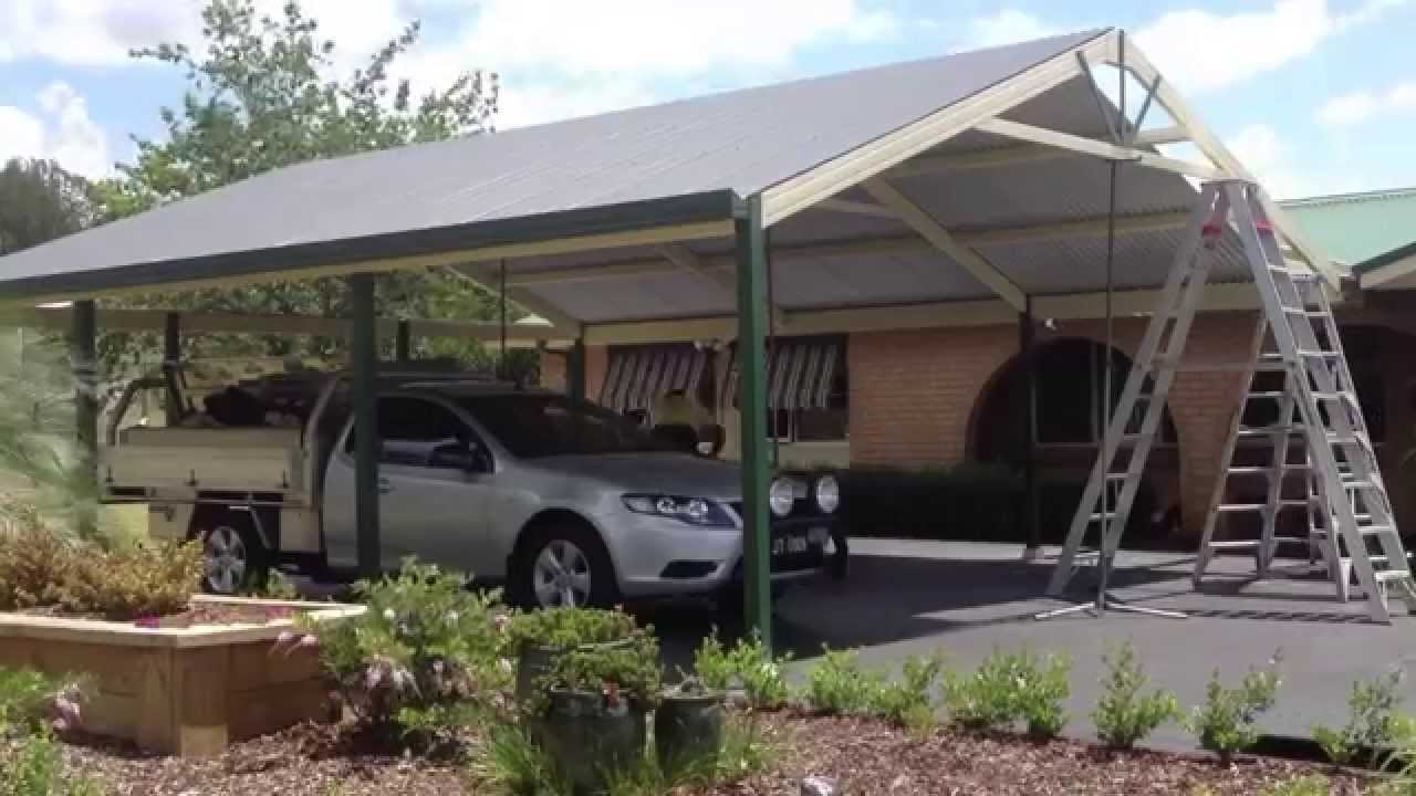 premier improvements construction of a gable carport youtube. Black Bedroom Furniture Sets. Home Design Ideas