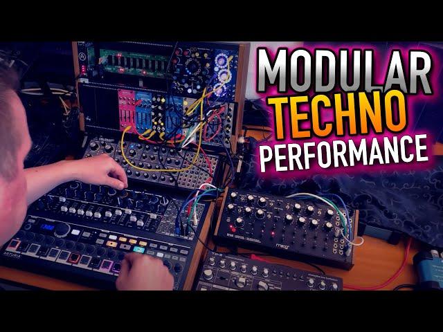 Analog Modular Melodic Techno - Eurorack Moog DFAM Arturia Minibrute Behringer Dreadbox TipTop VPME