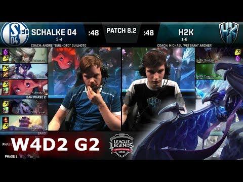 H2K Gaming vs FC Schalke 04 | Week 4 Day 2 of S8 EU LCS Spring 2018 | H2K vs S04 W4D2 G2