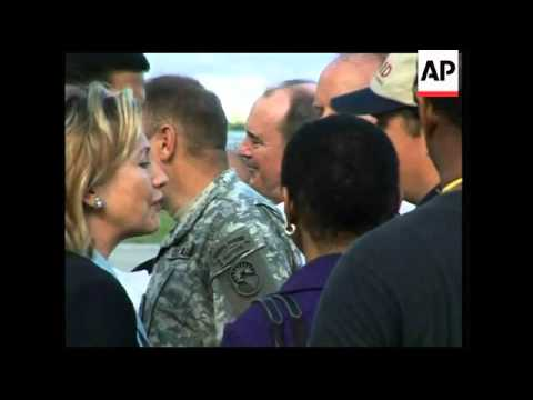 US Sec of State Clinton arrives in Haiti