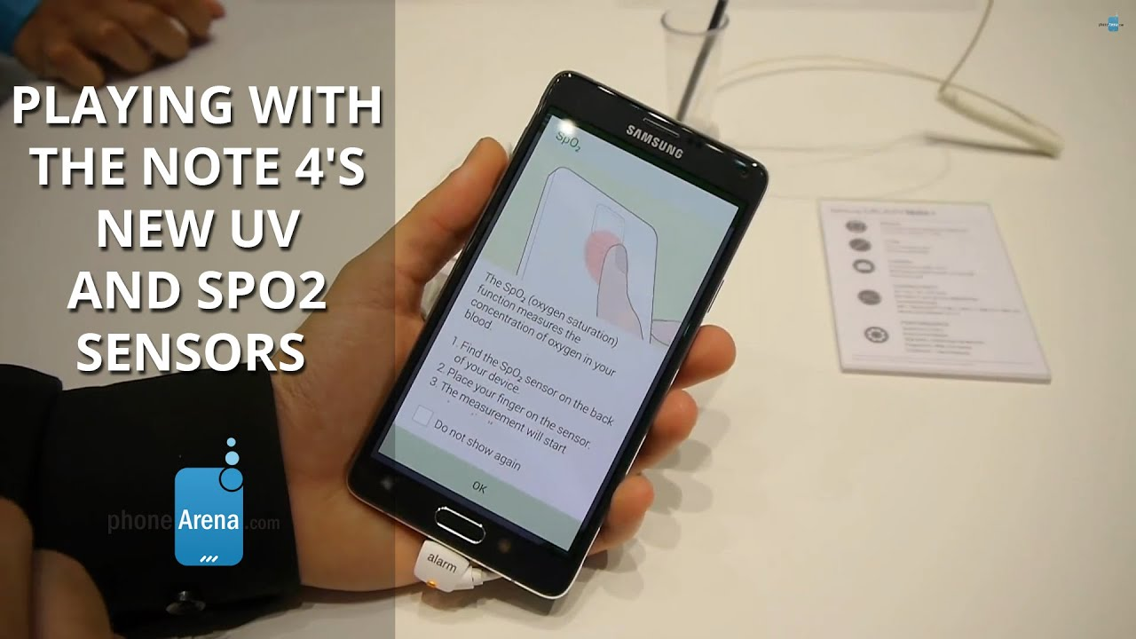 Playing with the Note 4's new UV and SpO2 sensors