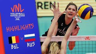 BELGIUM Vs. RUSSIA -  Highlights Women | Week 3 | Volleyball Nations League 2019