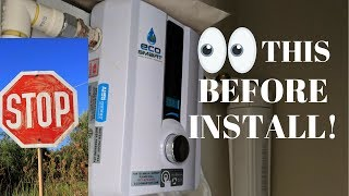 EcoSmart tankless water heater install the RIGHT WAY Eco smart