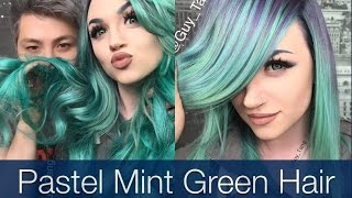 Pastel Mint Green Hair