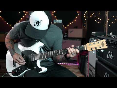 Eastwood Sidejack Series Mach Two Mosrite Tribute - Guitar Demo
