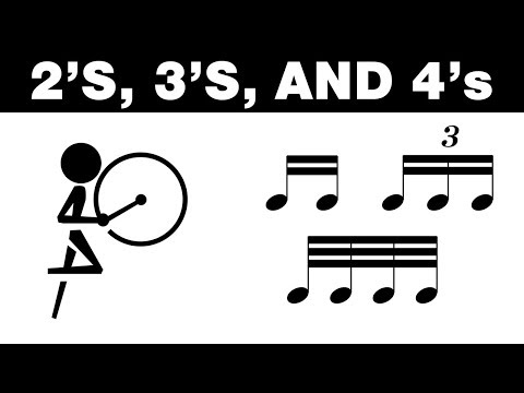 HOW TO PLAY 2'S, 3'S, & 4'S - BASS DRUM VIDEO LESSON