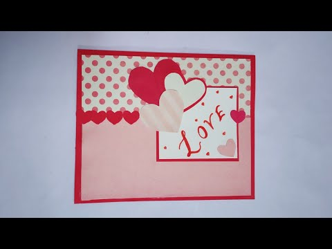 DIY Handmade Greeting Card For Valentine - Craft Nifty Creations