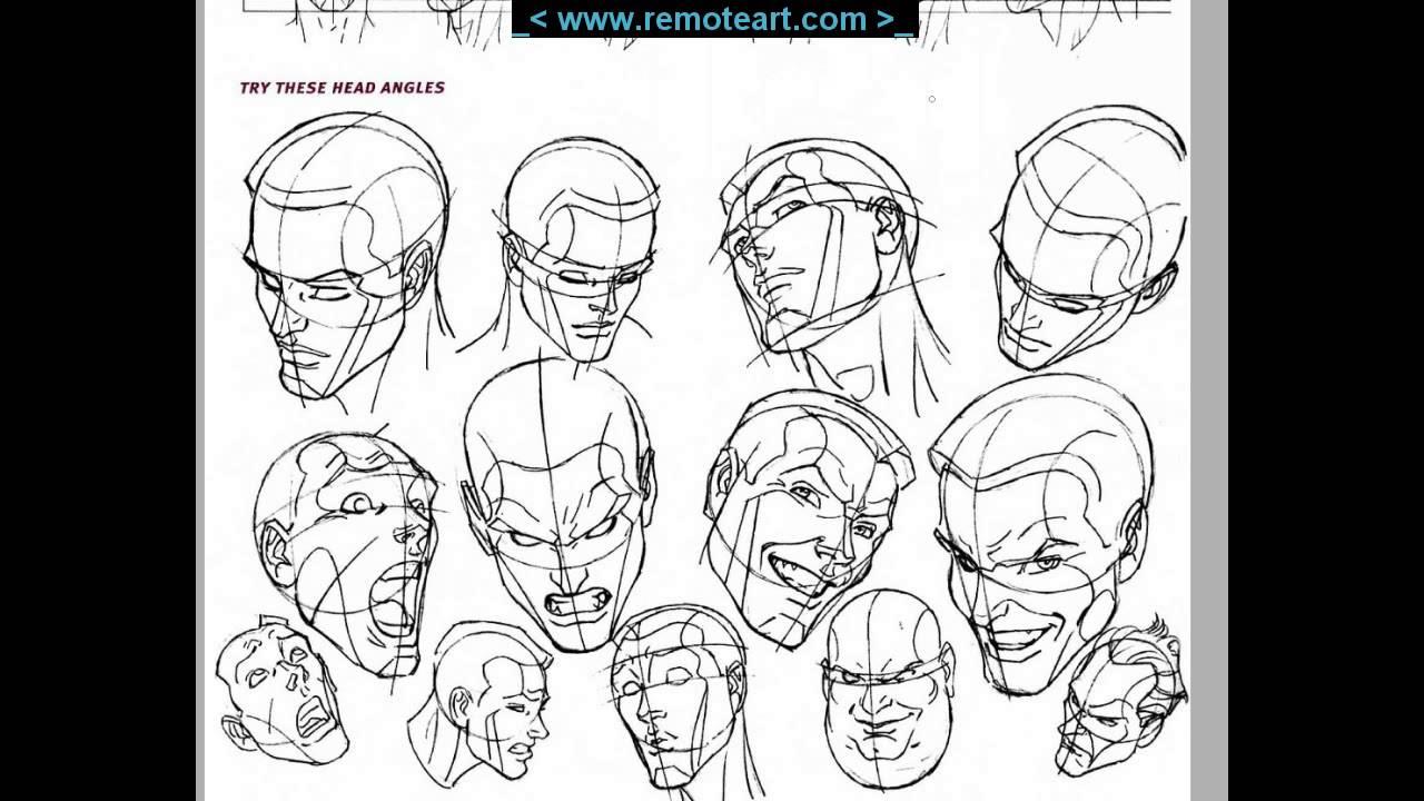독학 컨셉아트 P 11 얼굴 그리기 05 경사각 연습 방법 Youtube