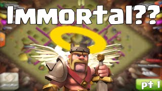 "Clash of Clans ""Immortal Barbarian King"" (no healer) 