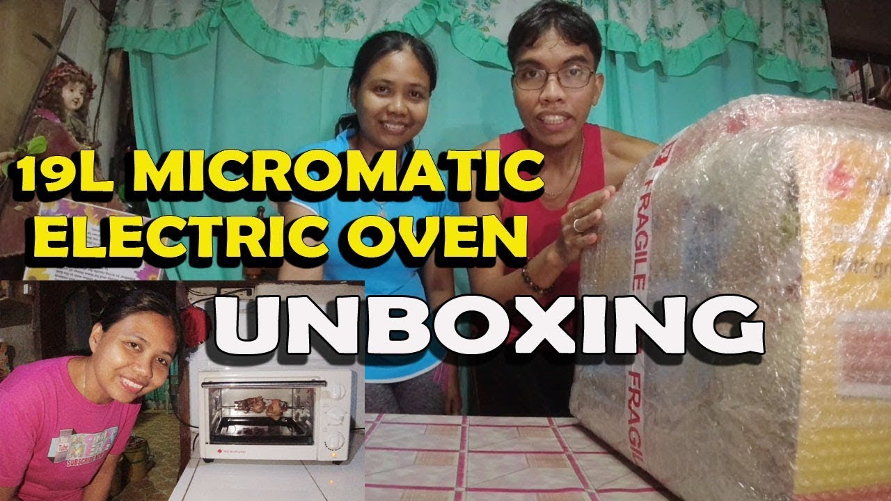 Micromatic 19L Microwave Oven from shopee unboxing with @Mommy Merai