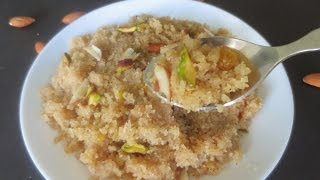 Sooji ka Halwa (tips for grainy texture and less ghee)/Navratra special|Poonam