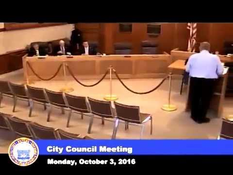 Camera Pan at Revere, Massachusetts City Council Meeting