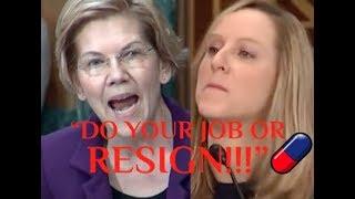 """""""DO YOUR JOB OR RESIGN!!!"""" Elizabeth Warren DESTROYS Trump's Fake """"Consumer Watchdog"""" on Her Failure"""