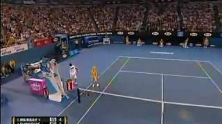 39 shots rally Novak Djokovic def. Andy Murray Australian Open 2011 Final