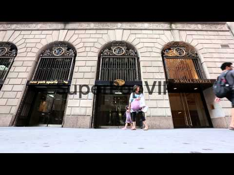 Long shot of the New York Sports Club at 30 Wall Street. ...