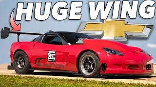 This Corvettes wing is freaking HUGE..but it WORKS! thumbnail