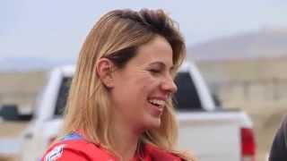 2016 World Champion Woman motocross rider Livia Lancelot super fast at Lake Elsinore, California