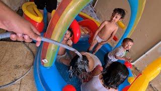 🔥أول تجربة للمسبح في الديره🔥