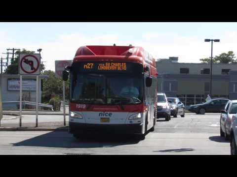 "NICE Bus: New Flyer XN40 ""Xcelsior"" CNG #1919 on the N27"
