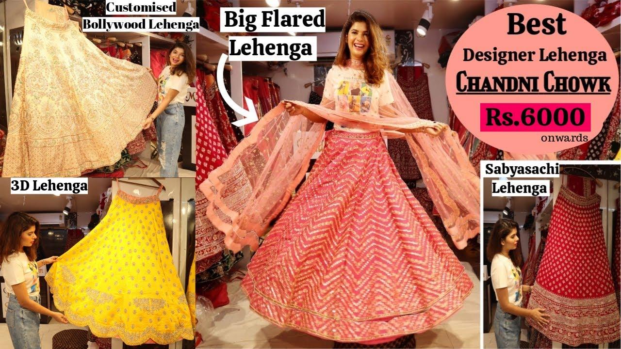 New* Celebrity Designer Lehenga In Chandni Chowk | Latest Lehenga Collection | Wedding Shopping