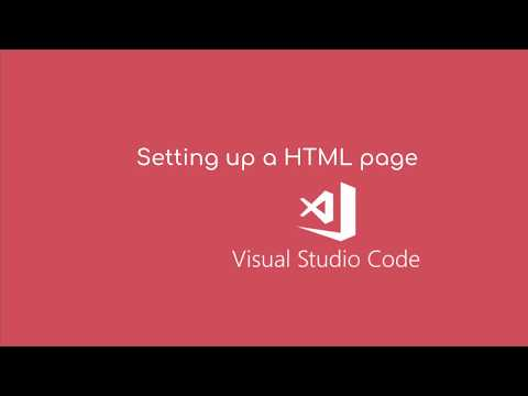 Setting Up Your HTML Page In Visual Studio Code
