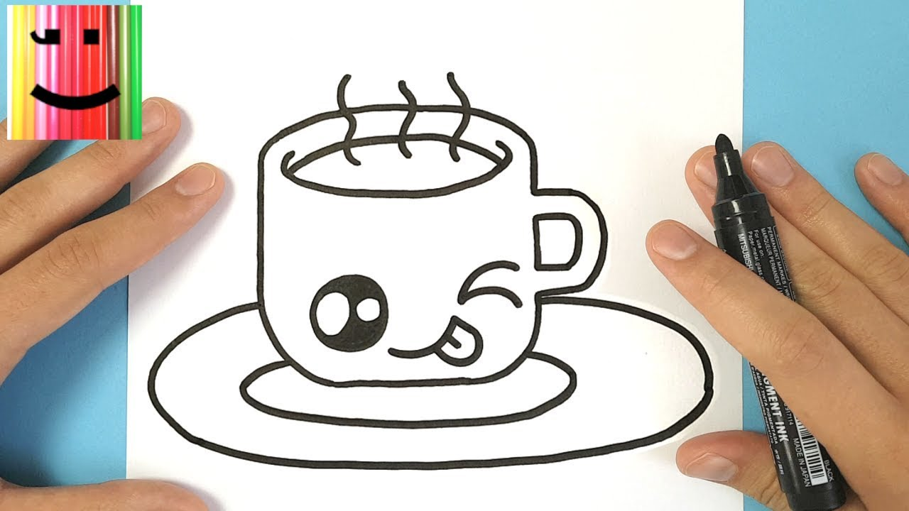 Coloriage Chocolat Kawaii.How To Draw A Kawaii Cup Of Hot Chocolate