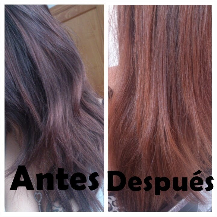 Arrastre de color en pelo