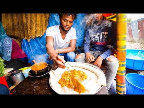 The Ultimate ETHIOPIAN FOOD TOUR - Street Food and Restauran