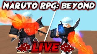 FIGHTING OROCHIMARU AND UNLOCKING THE CURSE MARK in Naruto RPG: Beyond!! | Roblox Live Stream #116