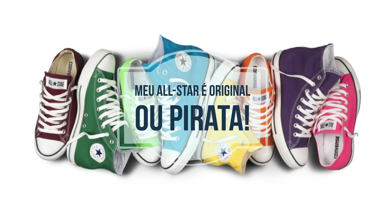 ac1aba4443c Converse All Star - Réplica Pirata Falso X Original - YouTube