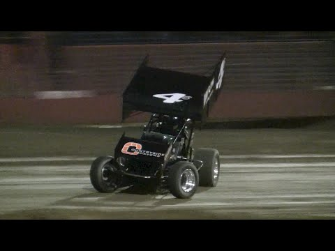 Top Gun Sprint Cars - East Bay Raceway Park 12-5-15