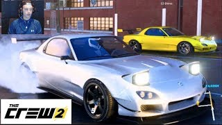 The Crew 2 - ONLINE Rx7 Drifting The Race Track!! F1 Open Wheel/Motorcycles/WILD Life!! (Face Cam)