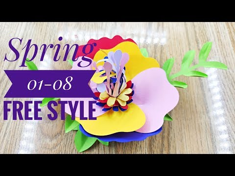 Free Style Spring 01-08 cardstock DIY Paper flower backdrop