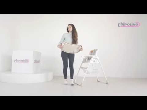 Regalo Portable High Chair Roll Up Beach 2 In 1 Youtube