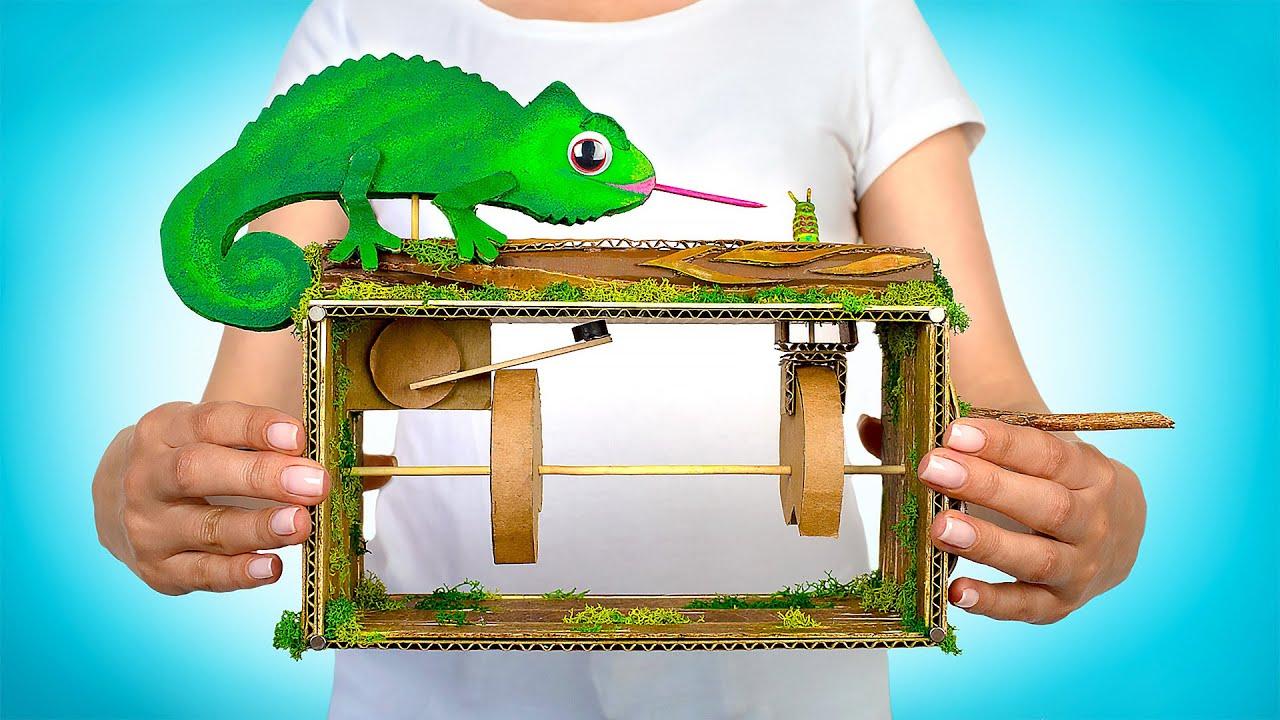 Автоматическая игрушка-антистресс «Хамелеон» своими руками