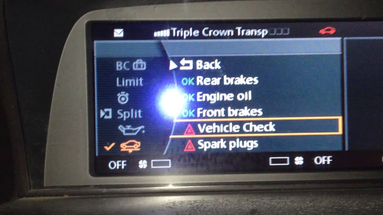 DIY BMW E65 E66 750i 750li Reset Vehicle Check On Idrive  YouTube