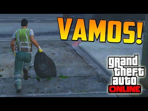RECOGIENDO LA BASURA - ATRACOS A BANCOS GTA V ONLINE PS4 - Financiación Inicial #2 - Heist