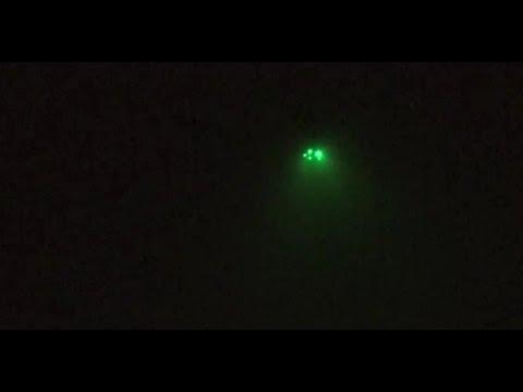 Amazing UFO with Green Spotlights Captured in Newport Beach [SIGHTING]