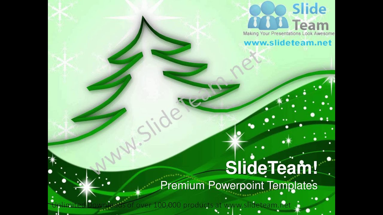 Ribbon Christmas Tree Powerpoint Templates Ppt Themes 1012 Slides