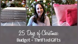 Budget + Thrifted Gifts • 25 Days of Christmas