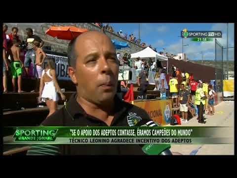Futebol de Praia :: Sporting - 3 x Braga - 4 de 2015 Final da Divisão de Elite