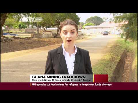 Ghana arrests 46 foreigners over illegal gold mining
