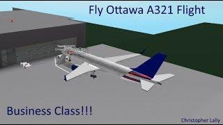ROBLOX   Fly Ottawa A321 Flight (Business Class)