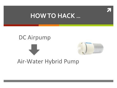 How to hack a Airpump to Air-Water Hybrid pump