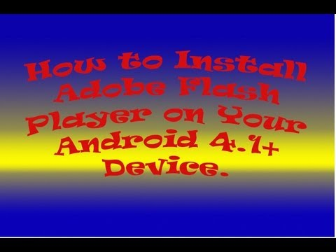 free  adobe flash player for android 4.1.2