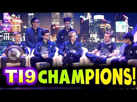OG - TI9 CHAMPIONS INTERVIEW! - THE INTERNATIONAL 2019 DOTA 2