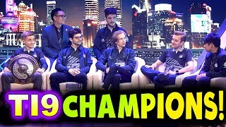 Og - Ti9 Champions Interview - The International 2019 Dota 2